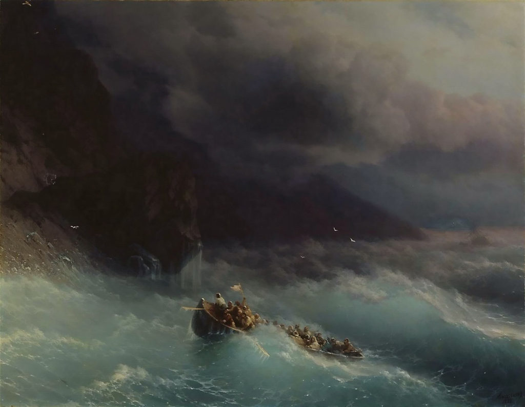 «Буря на Чёрном море», 1873г.