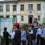 У здания бывшей школы (сейчас - МБОУ ДОД ЦДТ)
