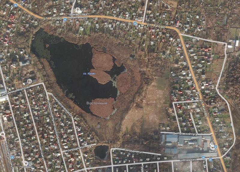 01 - озеро Киово (спутниковый снимок)