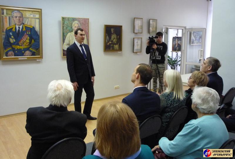 """Приветствие руководителя МКУ """"Художественная галерея"""" г.Лобня М.А.Черчинцева"""