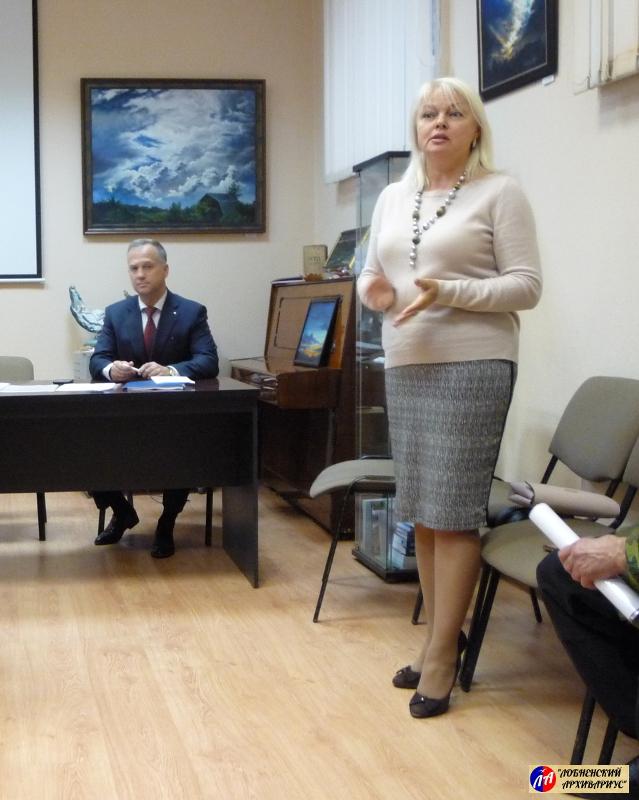 Выступление начальника Управления культуры Администрации г.о.Лобня Т.Ю.Доцук